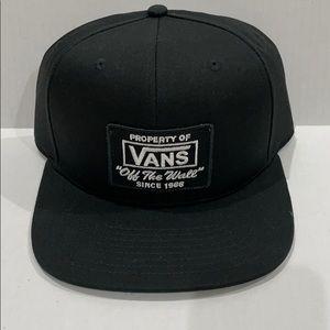 NWT Vans OTW Script Black Hat Flat Bill